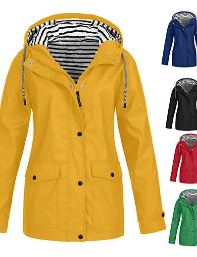 저렴한 소프트쉘, 플리스 & 하이킹 재킷-여성용 나일론 하이킹 레인코트 방수 하이킹 자켓 레인 자켓 집 밖의 방수 방풍 빠른 드라이 경량 후드 윈드브레이커(바람막이) 파카 캠핑 & 하이킹 수렵 피싱 네이비 핑크 푸른 퍼플 옐로우 / 통기성 / 통기성
