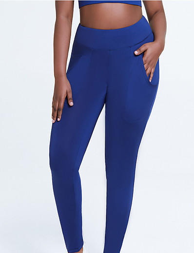 cheap Running, Jogging & Walking-Women's High Waist Athletic Running Tights Leggings Compression Pants Bottoms with Phone Pocket Fitness Gym Workout Running Jogging Exercise Summer Plus Size Tummy Control Butt Lift Quick Dry Sport