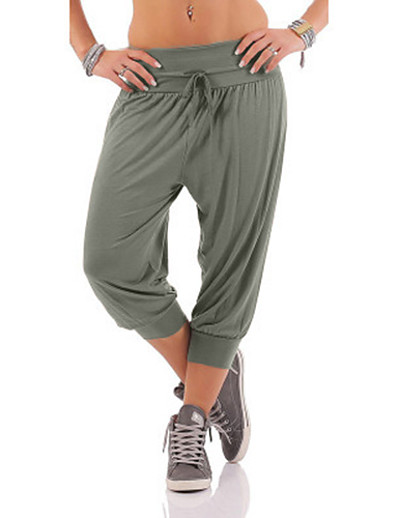 cheap Running, Jogging & Walking-Women's Athletic Joggers Running Capri Pants Sweatshorts Capris Bottoms Gym Workout Running Jogging Training Exercise Summer Moisture Wicking Breathable Soft Sport Solid Colored Army Green Grey Black