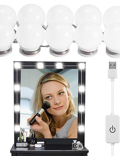 cheap Home & Garden-Diminable 10 Bulbs Hollywood LED Mirror Light Makeup 5V Light Studio Bathroom Mirror Fill Light LED Bulb Cosmetic Dressing Lamp