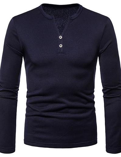 cheap Men's Clothing-LITB Basic Men's Thicken Shirt Long Sleeve Shirt Winter Thick Comfy Warm Wear