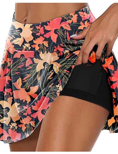 cheap Running, Jogging & Walking-21Grams Women's High Waist Athletic Athletic Skort Running Skirt Shorts Bottoms 3D Print 2 in 1 Side Pockets Fitness Gym Workout Running Training Exercise Summer Normal Quick Dry Moisture Wicking