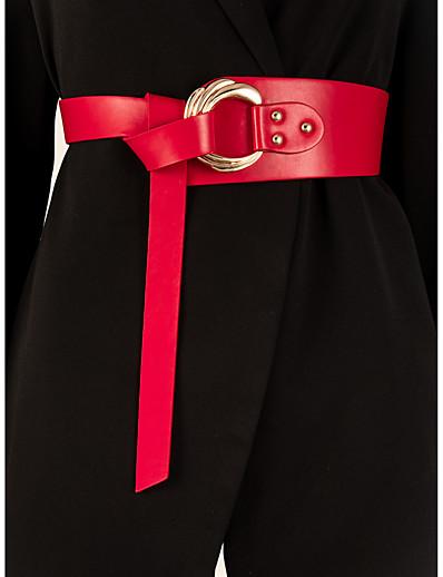 cheap Belt-Women's Wide Belt Camel Red Party Street Dailywear Daily Belt Pure Color / Fall / Winter / Spring / Summer / Vintage