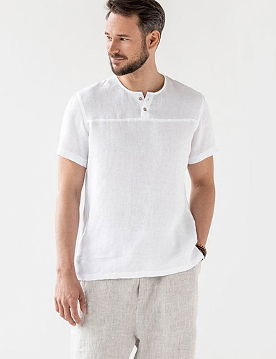 cheap Men's Clothing-LITB Basic Men's Solid Color T-shirt Basic Tee Casual Wear Daily