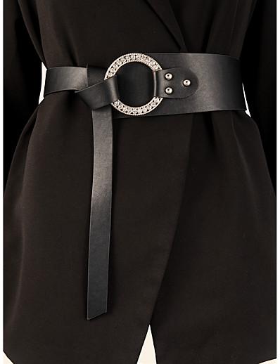 cheap Belt-Women's Wide Belt Black Street Dailywear Holiday Date Belt Pure Color / Fall / Winter / Spring / Summer / Alloy