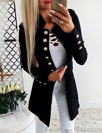 cheap Jackets-Women Elegant Long Sleeve Blazer Fashion Solid Color Slim Fit OL Button Blazer Casual Office Business Work Jacket Long Coat Outerwear Tops