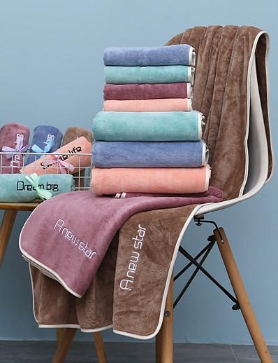 economico Casa e giardino-litb basic bathroom telo da bagno morbido di qualità superiore tinta unita confortevole assorbente quotidiano asciugamani da bagno per la casa 1 pz 70 * 140 cm