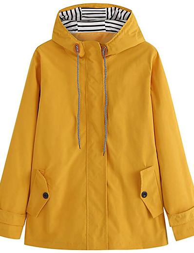 저렴한 소프트쉘, 플리스 & 하이킹 재킷-여성용 까마귀 자켓 방수 하이킹 자켓 레인 자켓 집 밖의 방수 방풍 빠른 드라이 경량 비옷 탑스 캠핑 & 하이킹 수렵 피싱 옐로우 블랙 / 통기성
