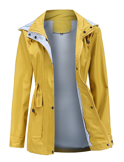 cheap Blazers-Women's Jacket Spring &  Fall Daily Wear Regular Coat Slim Fit Sporty Casual Jacket Solid Color Blue Yellow Green
