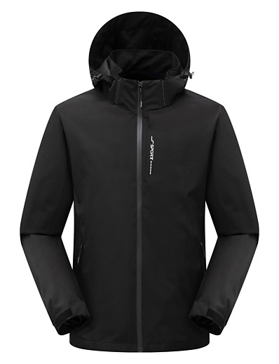 cheap Softshell, Fleece & Hiking Jackets-Women's Men's Hoodie Jacket Hiking Jacket Hiking Windbreaker Outdoor Thermal Warm Waterproof Windproof Quick Dry Outerwear Trench Coat Top Skiing Hunting Ski / Snowboard Blue Black Dark Blue