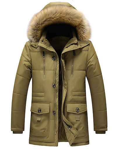 cheap Down& Parkas-men's winter removable hooded frost-fighter sherpa lined midi packable parka jackets (xx-large, 17navy blue)