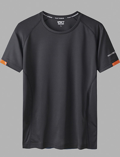 cheap Men's Clothing-LITB Basic Men's Quick Dry T-Shirt Ultra Light Tee Breathable High Elasticity Solid Color