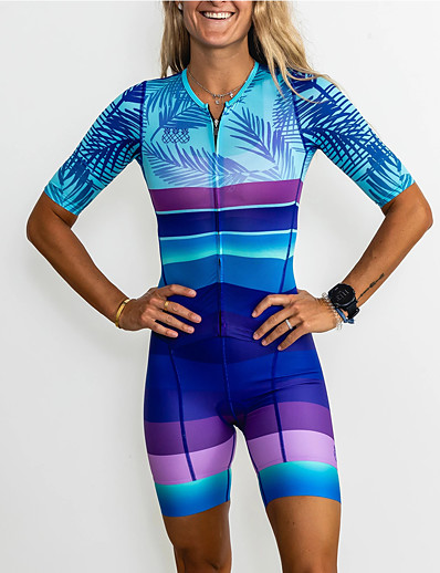 halpa Pyöräily-Naisten Triathlon Tri -puku Lyhythihainen Mineraalin vihreä Pyörä Urheilu Maastopyöräily triatlon Vaakasuuntaiset nauhat Vaatetus