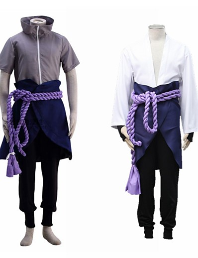 cheap Cosplay & Costumes-Inspired by Naruto Uchiha Sasuke Anime Cosplay Costumes Japanese Cosplay Suits For Men's