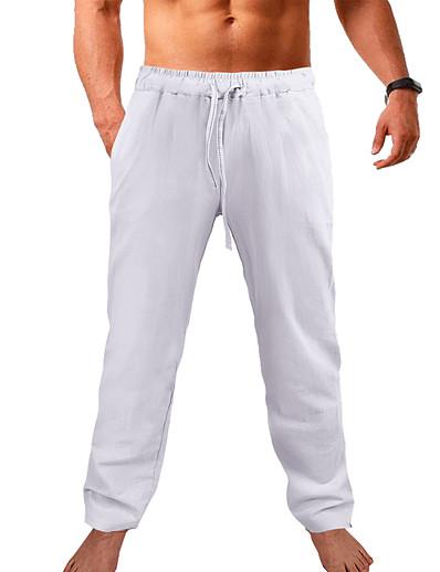 cheap Exercise, Fitness & Yoga-Men's Running Pants Yoga Pants Jogger Pants Pants / Trousers Sweatpants Bottoms Side Pockets Elastic Waistband Quick Dry Moisture Wicking Lightweight Apricot Gray khaki Yoga Fitness Gym Workout Plus
