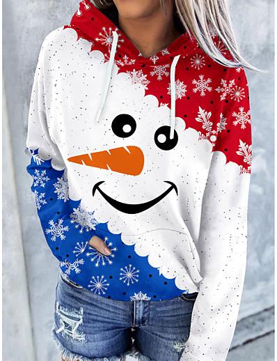 cheap Hoodies & Sweatshirts-Women's Color Block Pumpkin Hoodie Sweatshirt Front Pocket Print Halloween Weekend Halloween Christmas Hoodies Sweatshirts  Blue Orange