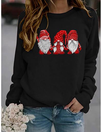 cheap CHRISTMAS-Women's Graphic Pullover Sweatshirt Christmas Daily Basic Christmas Hoodies Sweatshirts  Yellow Wine Green