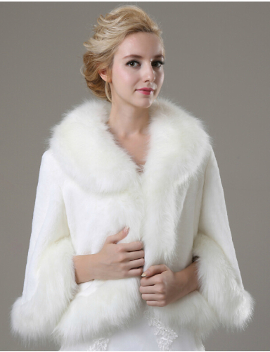 Long Sleeve Coats / Jackets Faux Fur Wedding / Party Evening / Casual Fur Coats With