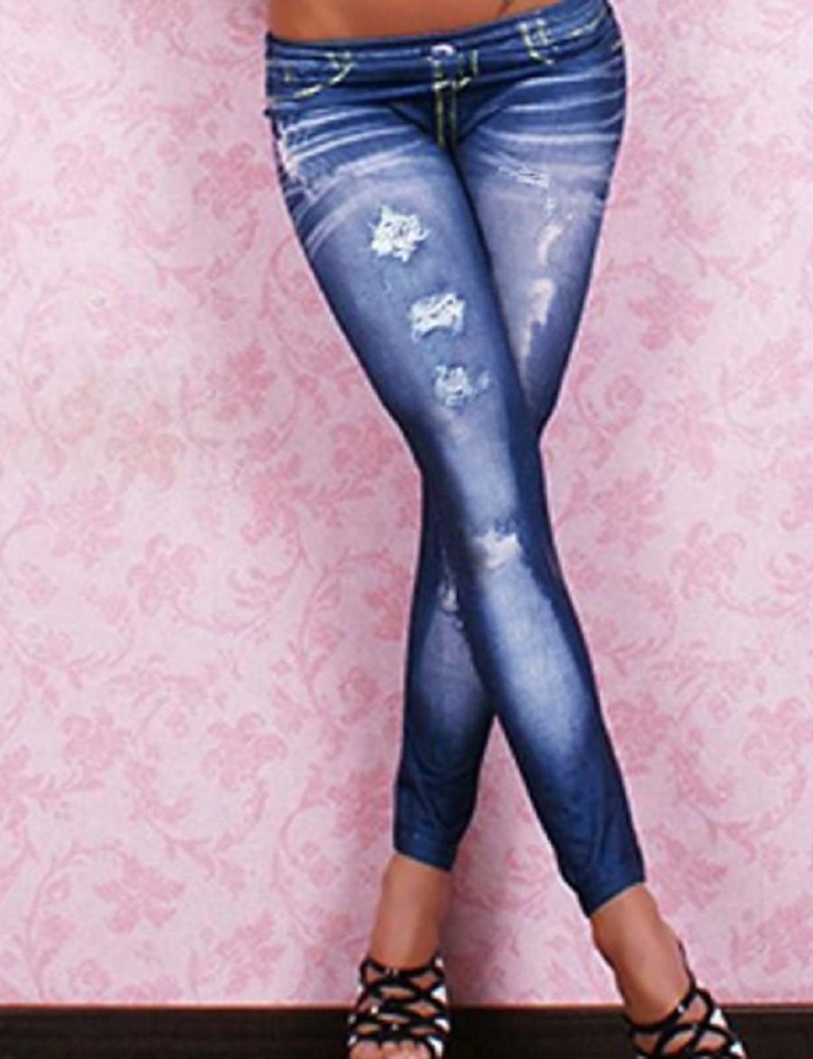 535740d1c7ddf Women's Denim Legging Solid Colored Low Waist 1160251 2019 – $8.99