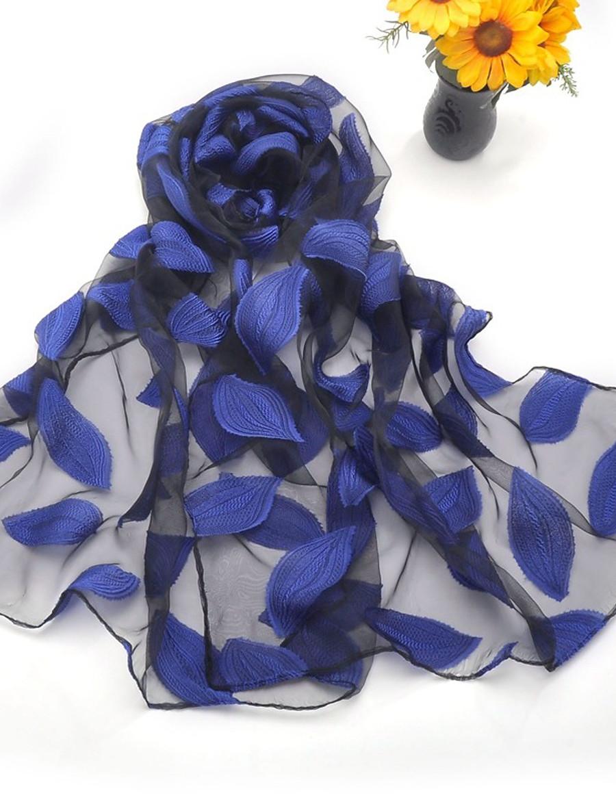 Women's Women's Shawls & Wraps Wine Street Scarf Florals / Party / Silk / Cute / Green / Fall