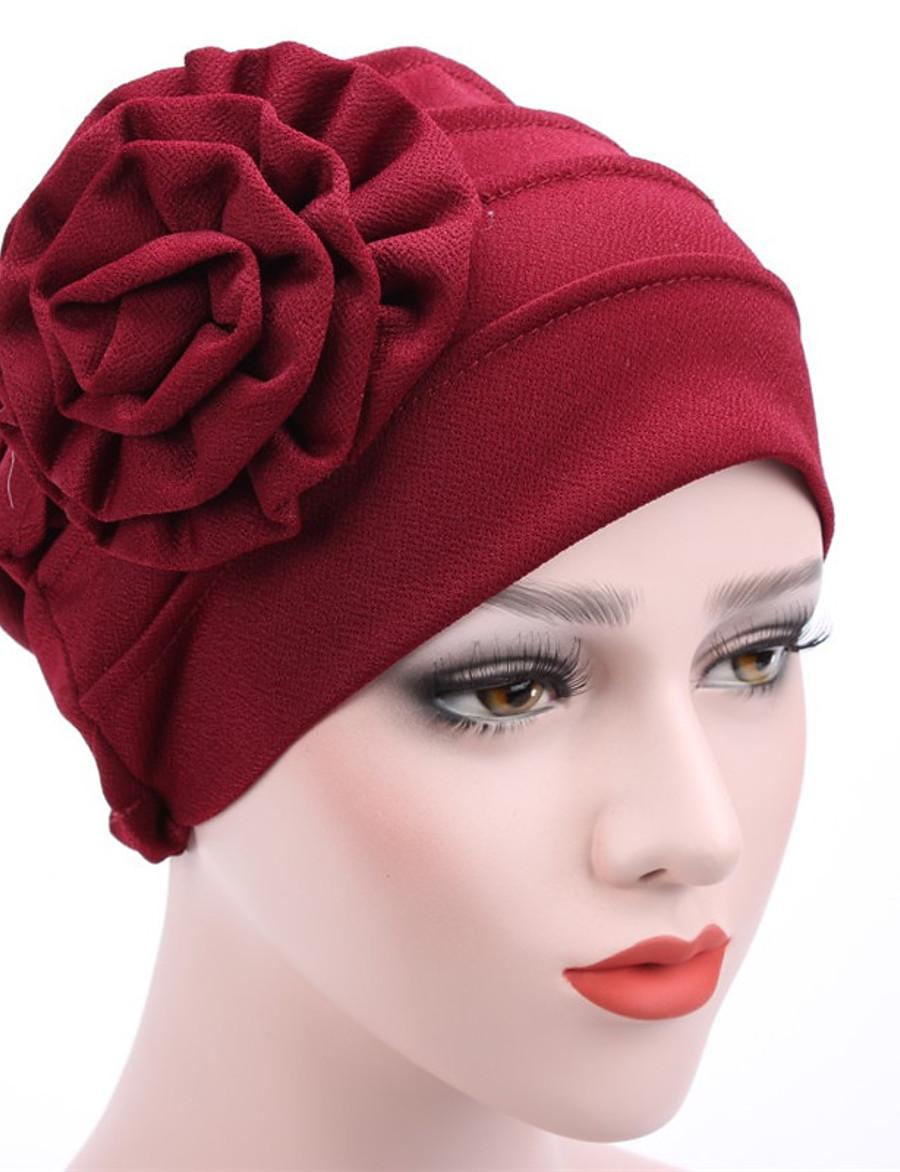 Women's Beanie / Slouchy Flower Street Dailywear Casual Wine Black Pure Color Hat / Khaki / Fall / Winter / Spring