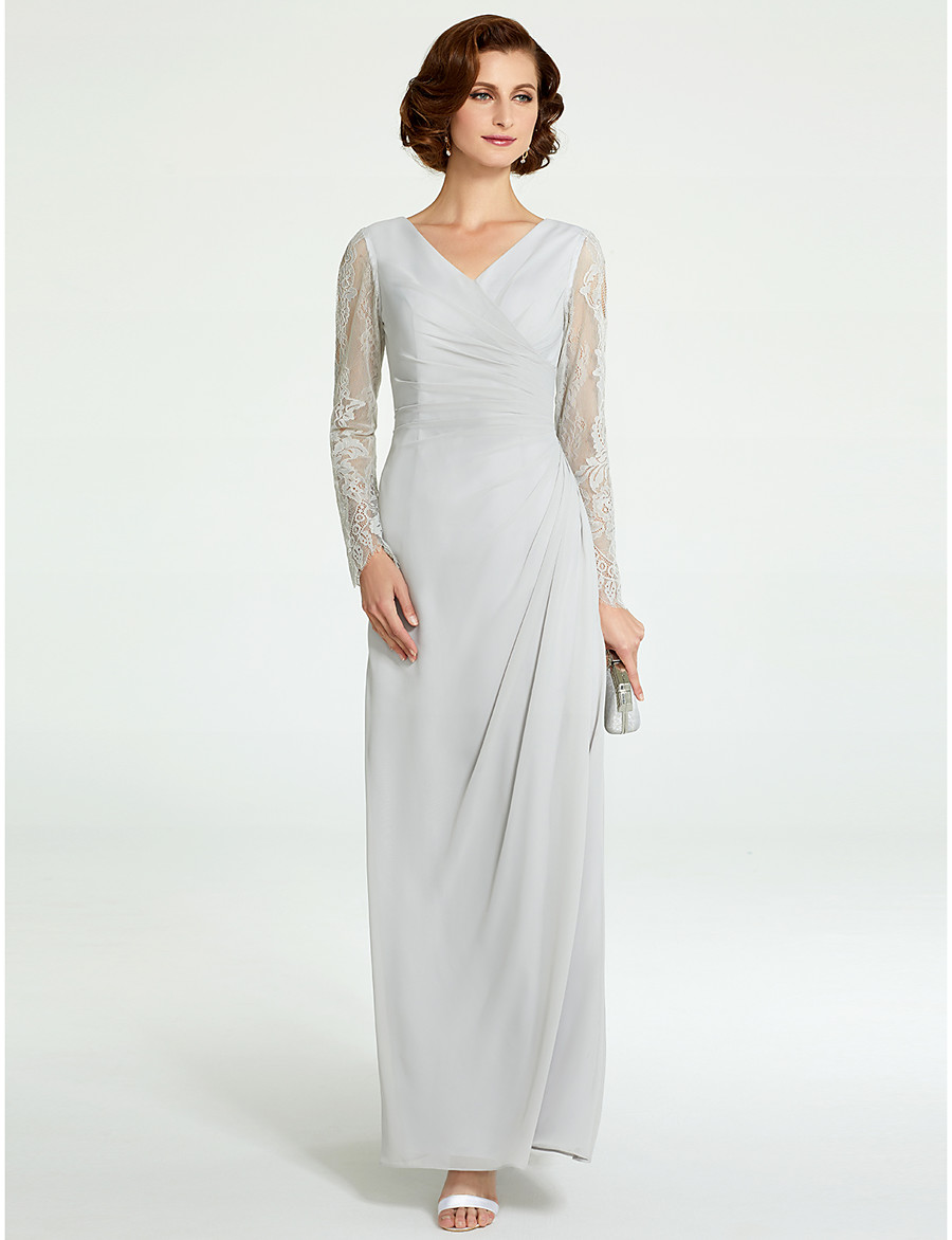 bd9cd7f02f9a Silver Floor Length Mother Of The Bride Dresses - raveitsafe