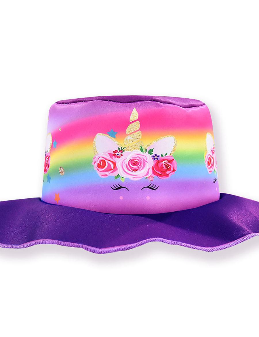 Kids Girls' Sweet Cartoon Spandex Hats & Caps Purple / Fuchsia One-Size