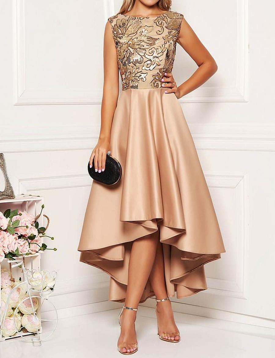 Women's A-Line Dress Midi Dress - Sleeveless Floral Solid Color Print Spring Summer Elegant Hot 2020 Khaki M L XL XXL 3XL
