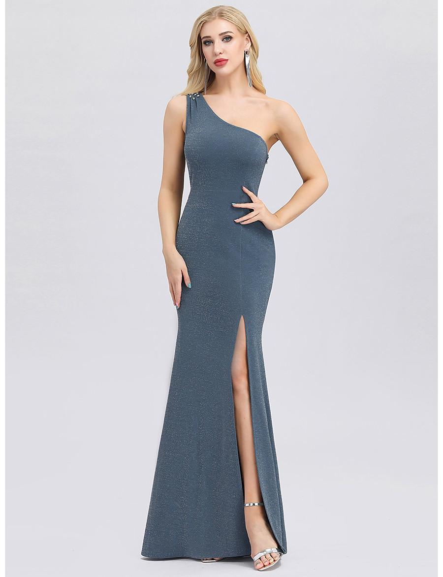Women's Formal Evening Elegant Bodycon Dress - Solid Colored Blue S M L XL