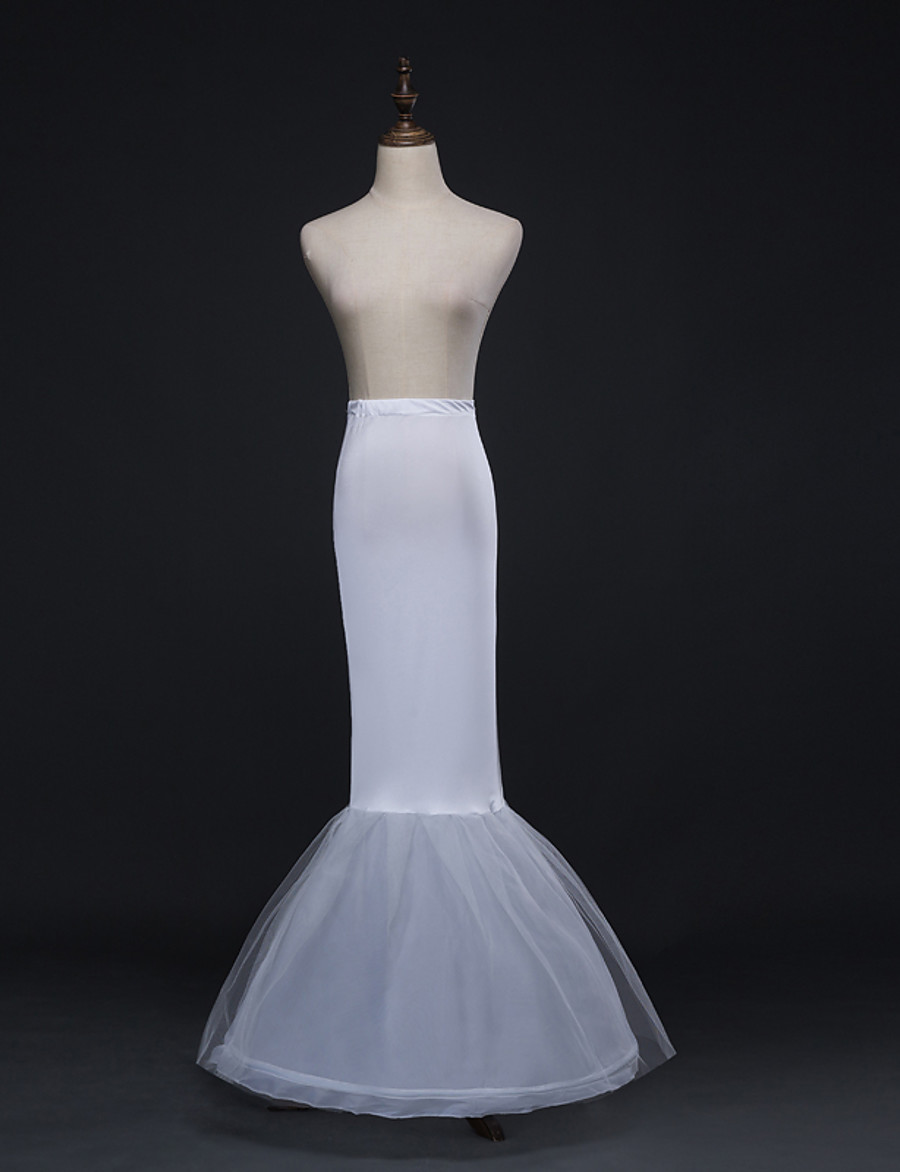 Wedding / Party / Evening Slips Tulle Floor-length Mermaid and Trumpet Gown Slip with