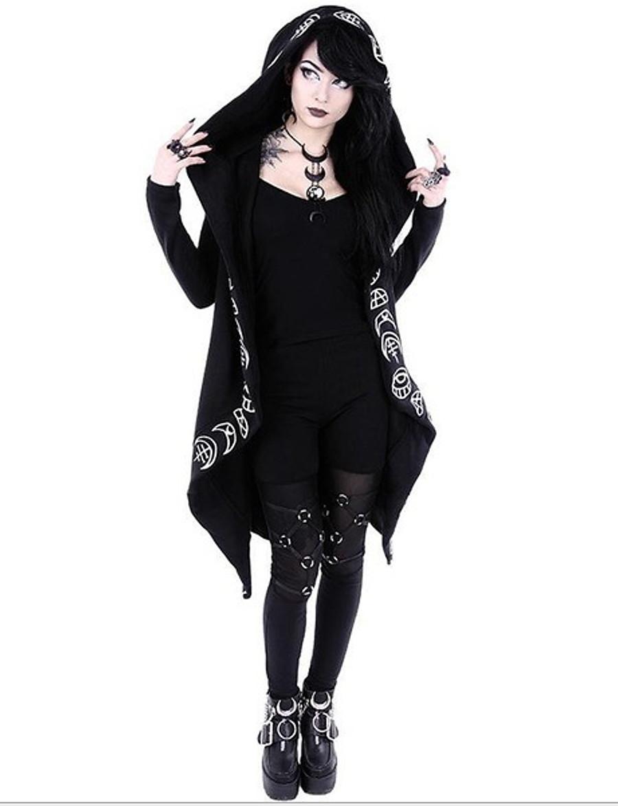 Women's Hoodie Geometric Casual Black S M L XL XXL XXXL XXXXL