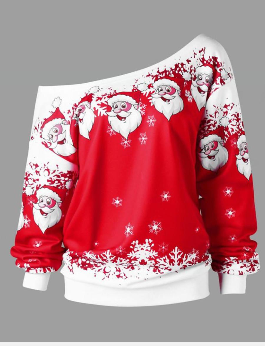 Women's Christmas Sweatshirt - Print Black S