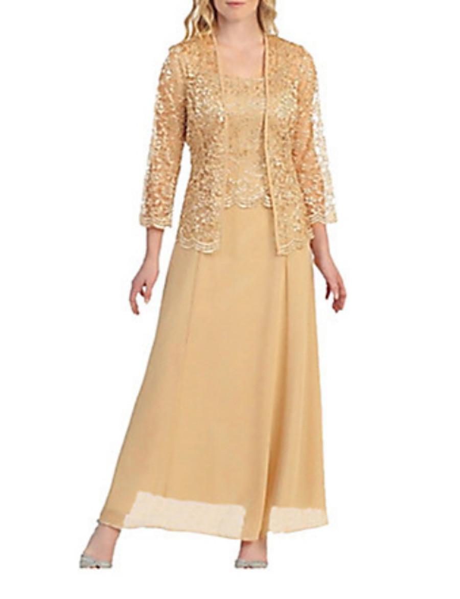 Women's Plus Size Maxi Two Piece Dress - Solid Colored Boat Neck Black Wine Gold M L XL XXL