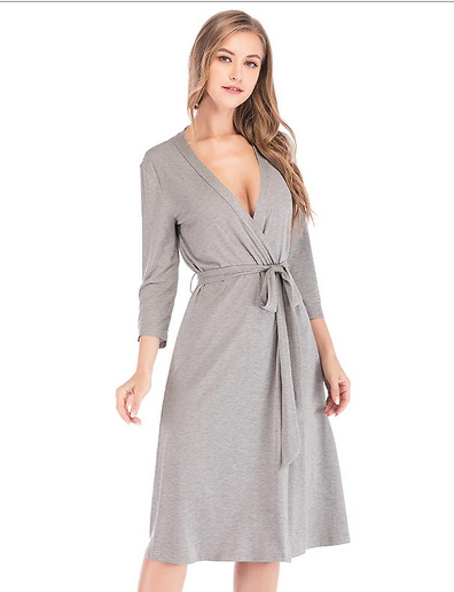 Women's Chemises & Gowns Nightwear Black Gray S M L