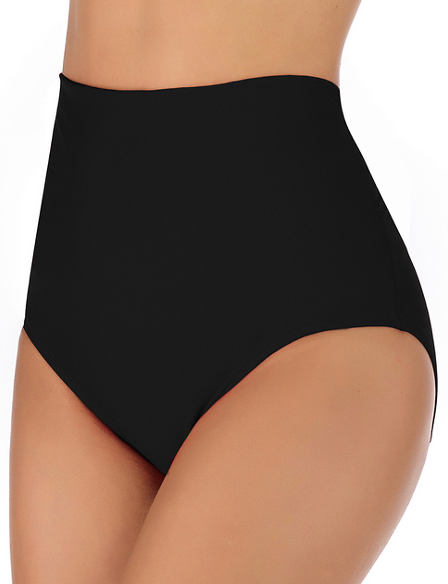 Women's Bottoms Swimsuit Solid Colored Swimwear Bathing Suits Black Navy Blue