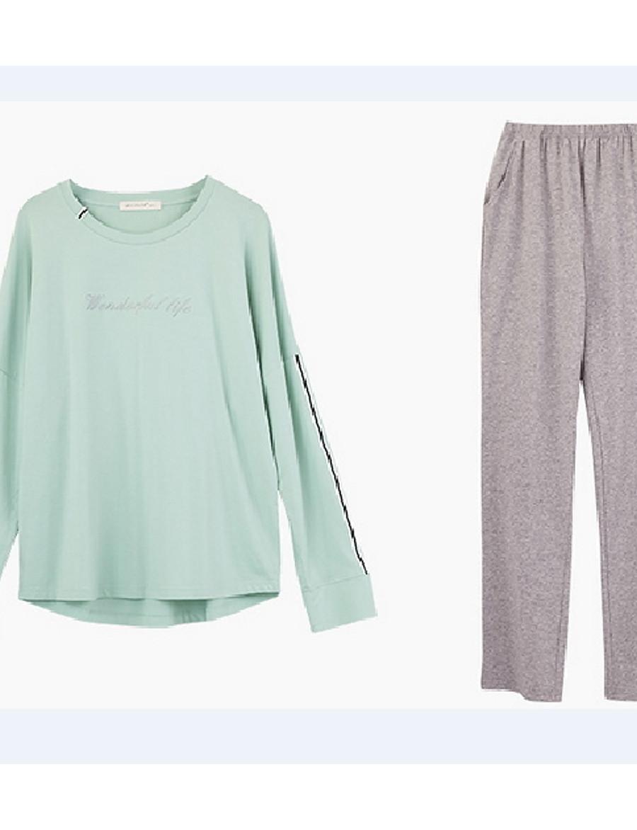 Women's Suits Nightwear Blushing Pink Green M L XL
