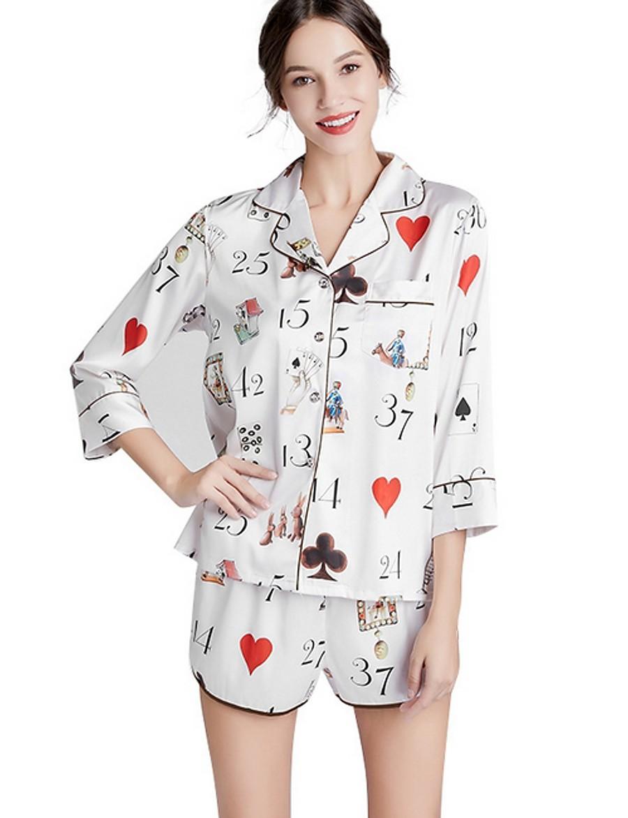 Women's Suits Nightwear White XL