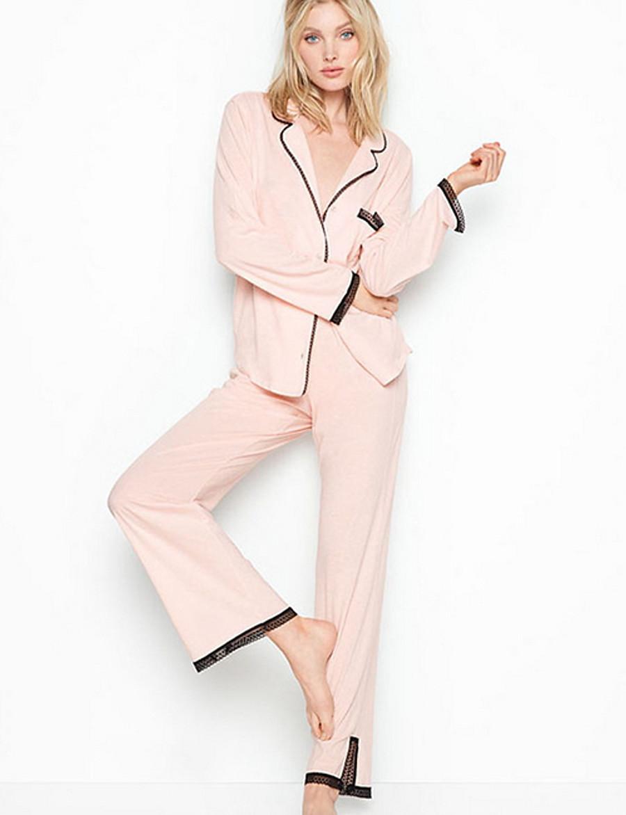 Women's Suits Nightwear Black Blushing Pink Gray S M L