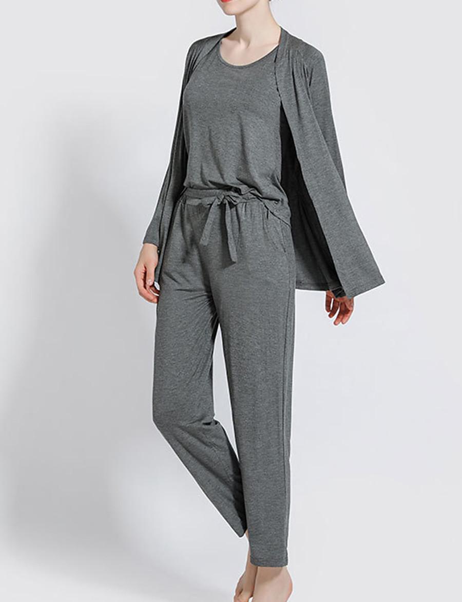 Women's Suits Nightwear Black Blushing Pink Blue L XL