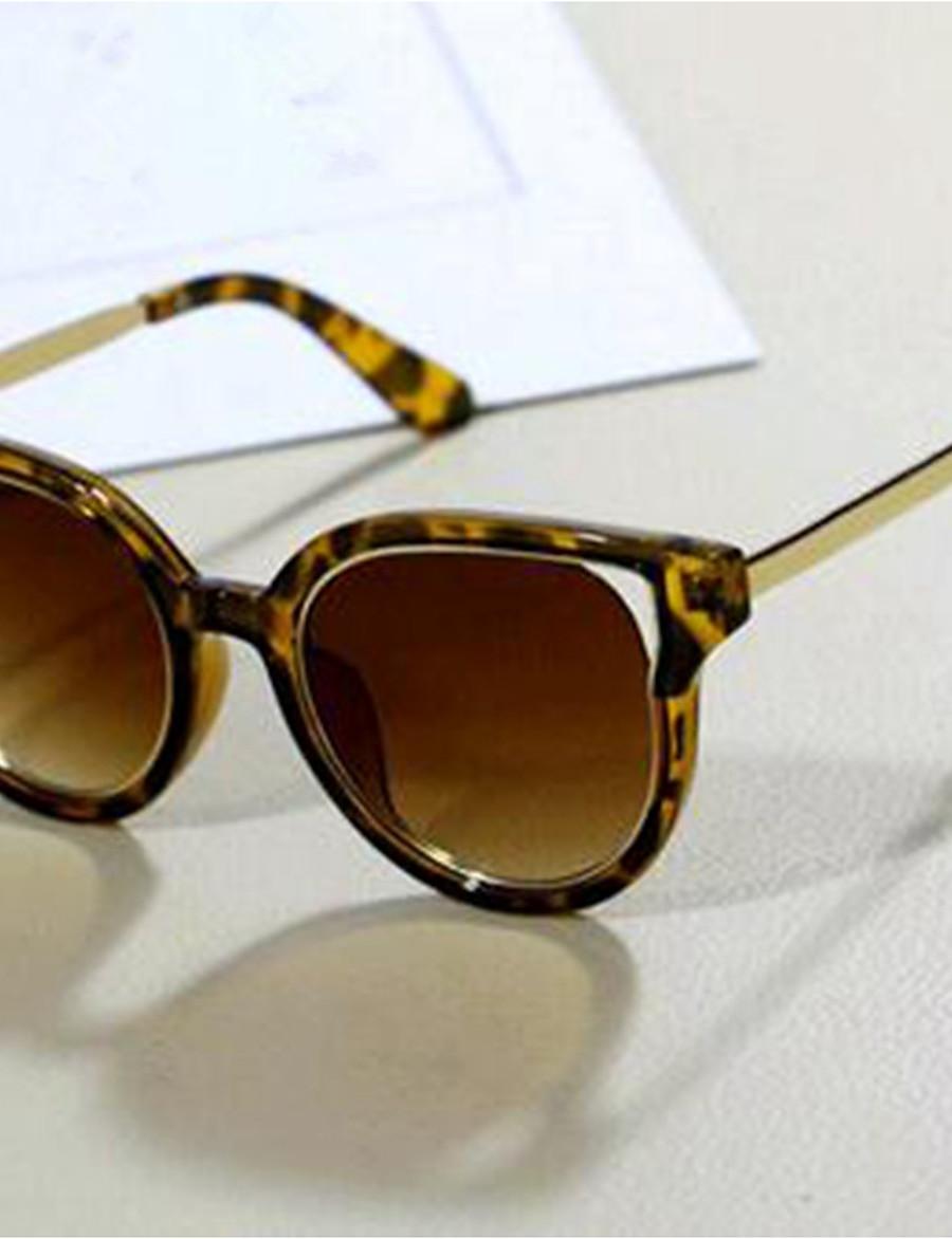 Kids Unisex Basic Leopard Glasses Brown