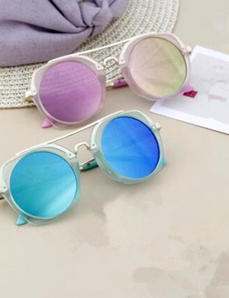 Kids Unisex Basic Solid Colored Glasses Blushing Pink / Light Green