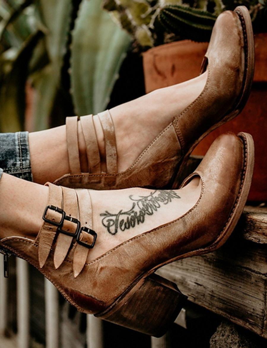 Women's Heels Chunky Heel Round Toe PU Spring & Summer Brown / Black / Beige