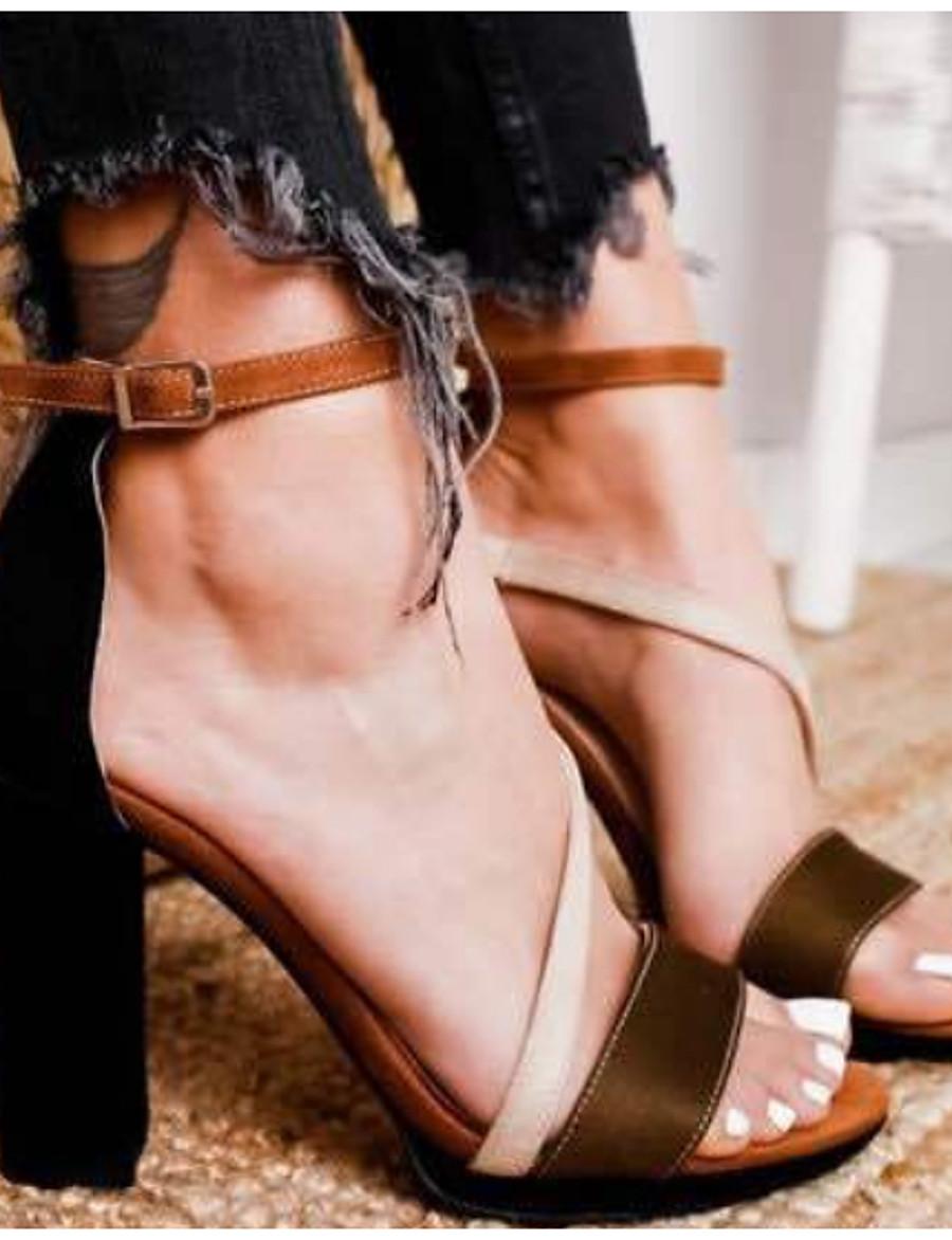 Femme Sandales Talon Bottier Bout ouvert Quotidien Matière synthétique Eté Noir Rose