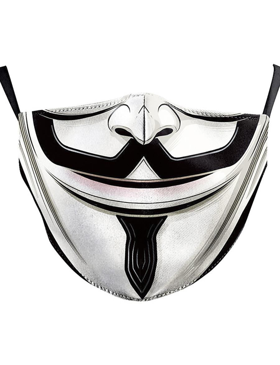 Masque Homme Femme Polyester Taille unique Arc-en-ciel 1 pc / paquet Adultes Quotidien Basique Toutes les Saisons