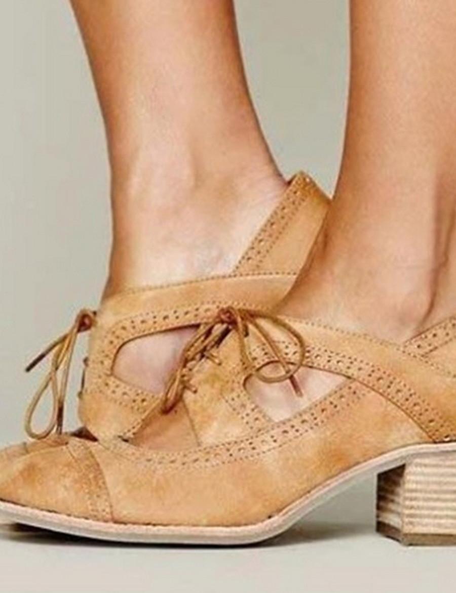 Pentru femei Sandale Toc Îndesat Vârf rotund Zilnic PU Negru Galben Gri