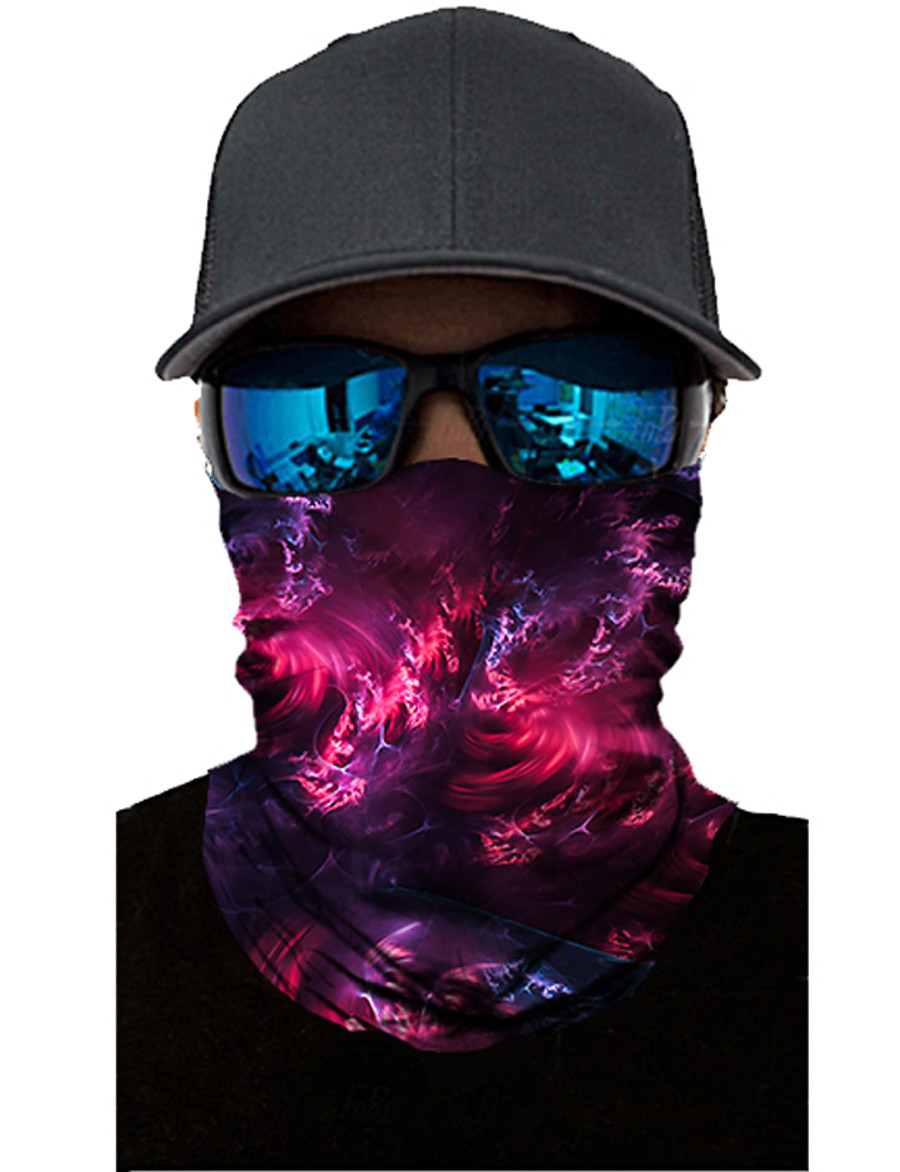 Neck Gaiter Pollution Protection Quick Dry Ultraviolet Resistant Rainbow  Balaclavas Bandana for Adults' Road Cycling Hiking Cycling