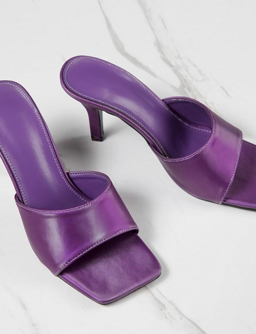 Women's Slippers & Flip-Flops Summer Stiletto Heel Open Toe Daily PU Purple / Green