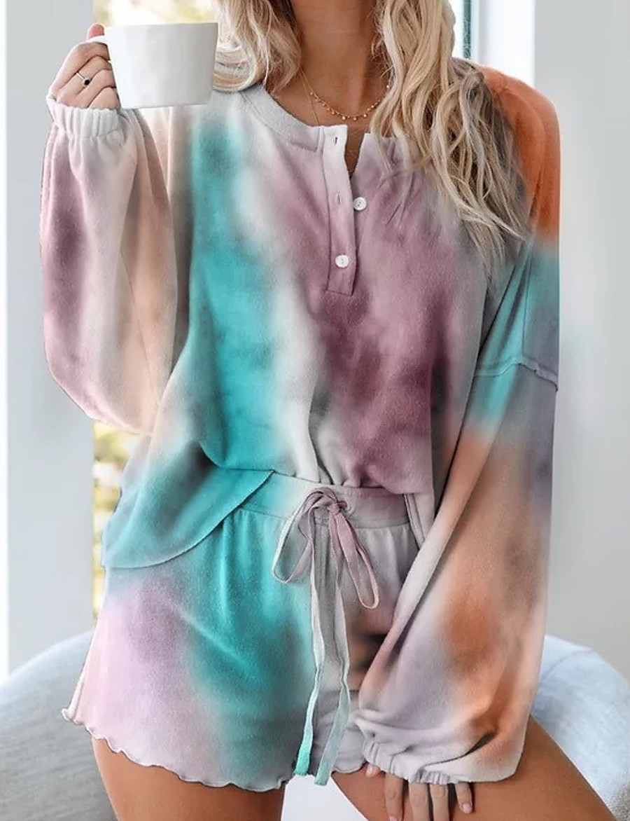 Summer Tie Dye One Piece Sets Pajamas