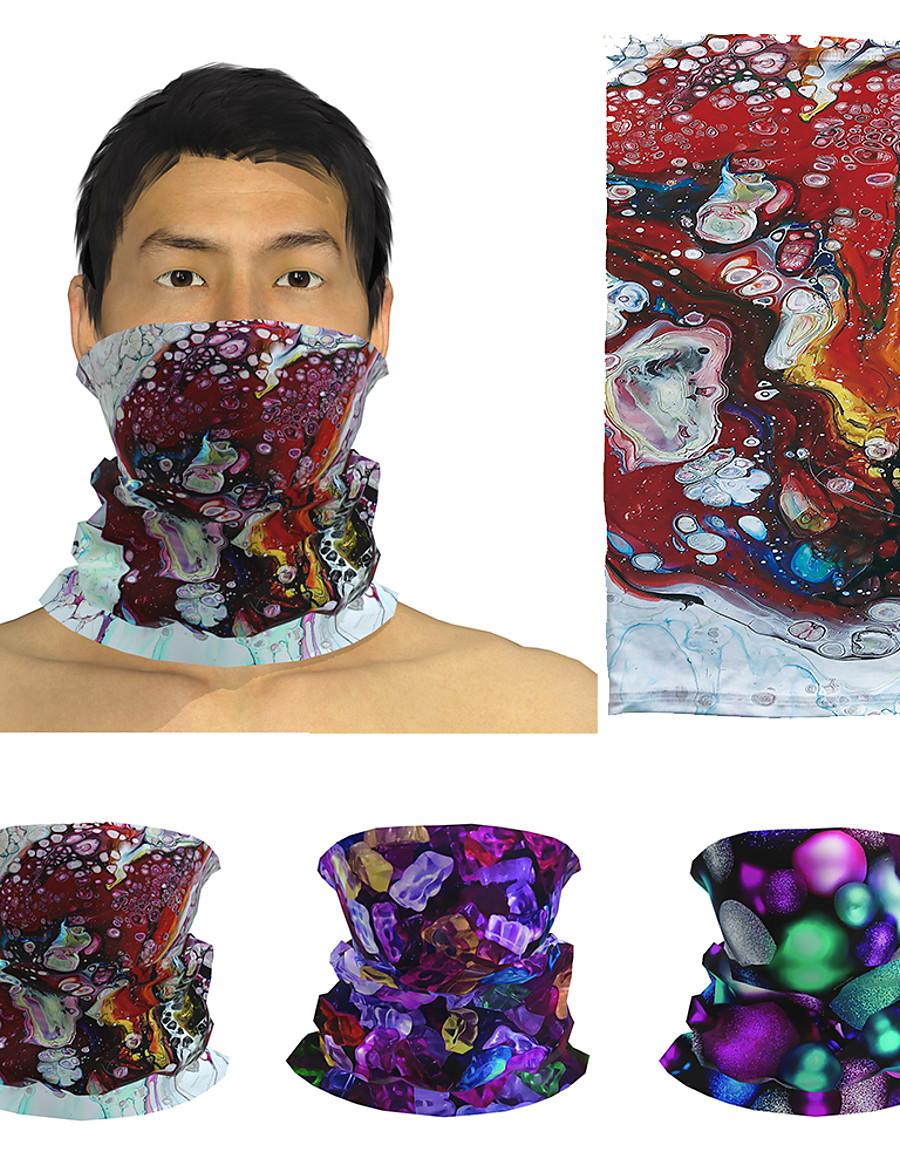 3D Print Men's / Unisex Square Scarf / Infinity Scarf / Hijab Print / Color Block, Multifunctional