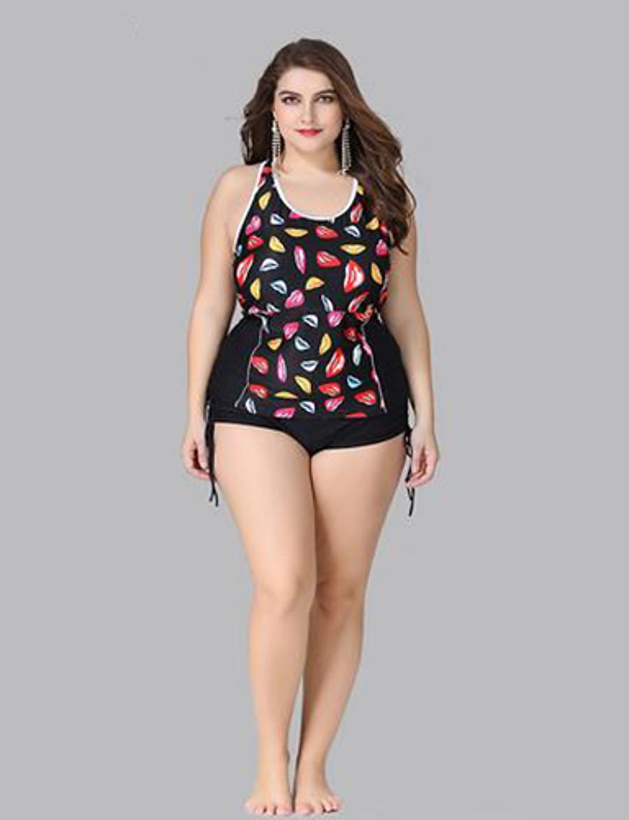 Women's Bikini Swimsuit Criss Cross Geometric Swimwear Bathing Suits Black